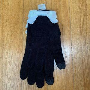 Kate Spade Bow Gloves Black & White